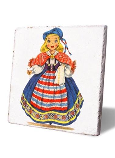 LWP Shop İsveçli Kız Desenli Bardak Altlığı Renkli